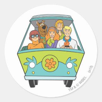 Scooby Doo stelt 71 Ronde Sticker