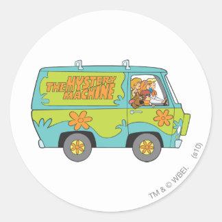 Scooby Doo stelt 73 Ronde Sticker