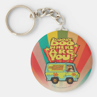"""Scooby-Doo   """"waar u?"""" bent Retro Bestelwagen van Sleutelhanger"""