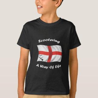 scootering manier van het leven vlag t shirt