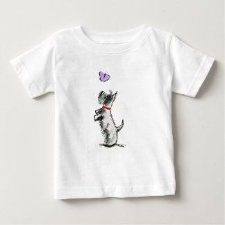 SCOTTIE EN VLINDER BABY T SHIRTS