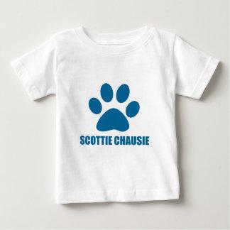 SCOTTIE HET DESIGN VAN DE CHAUSIE- KAT BABY T SHIRTS