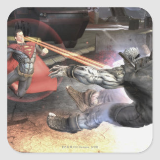 Screenshot: Superman versus Batman 2 Vierkante Sticker