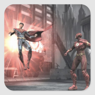 Screenshot: Superman versus Flits Vierkante Sticker