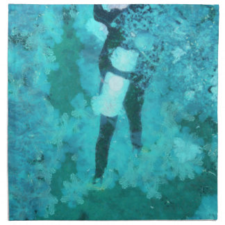Scuba-duiker en bellen servet