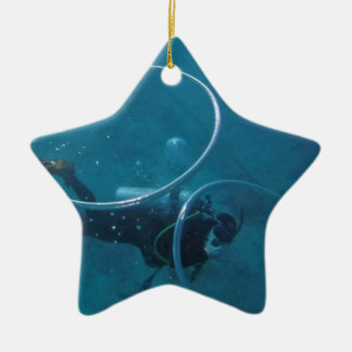 Scuba-duiker Keramisch Ster Ornament