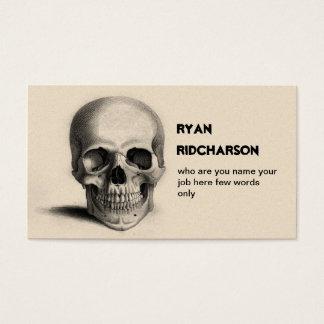 scull skeletvisitekaartje visitekaartjes