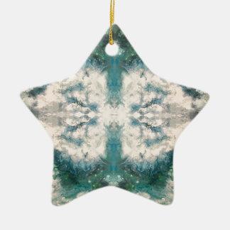Seafoam 2 patroon keramisch ster ornament