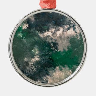 Seafoam 3 zilverkleurig rond ornament