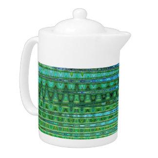 Seagrass de Pot van de Thee van het Porselein door