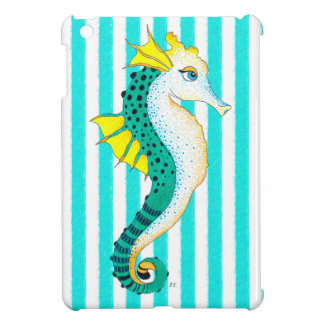 seahorse blauwgroen strepen hoesje voor iPad mini