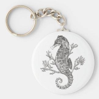 Seahorse en Koraal Sleutelhanger