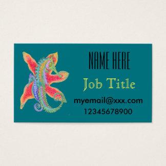 seahorse en zeestervisitekaartje visitekaartjes