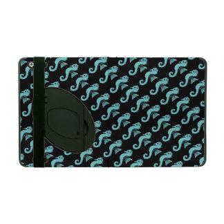 seahorse turkoois iPad hoesje