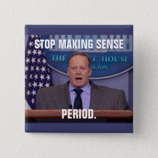 Sean Spicer, de Secretaresse van de Pers van het Vierkante Button 5,1 Cm