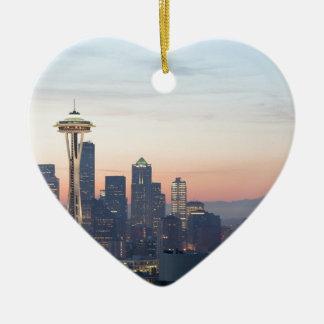 Seattle Keramisch Hart Ornament