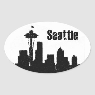 Seattle Ovale Sticker