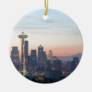 Seattle Rond Keramisch Ornament