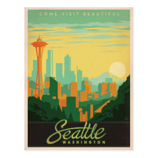 Seattle, WA Briefkaart