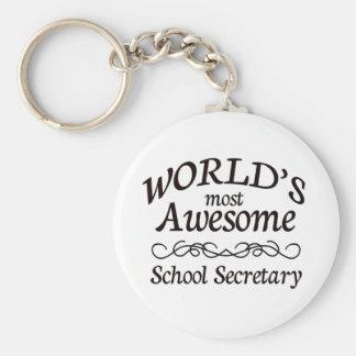 Secretaresse van de School van de wereld de Meest  Sleutelhanger