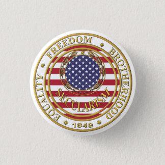 secularism flag gebruikte ronde button 3,2 cm
