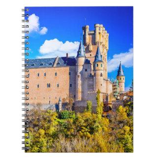 Segovia van het Notitieboekje van de foto kasteel Ringband Notitieboek