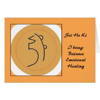 Sei hij het Symbool van Ki Reiki Briefkaarten 0