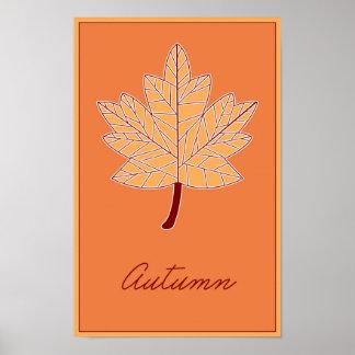 Seizoenen: Het Poster van de herfst
