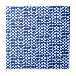 semi cirkel blauw mozaïek keramisch tegeltje