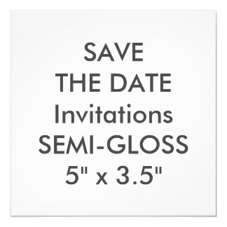 "Semi-GLANS 110lb 5.25 de"" Vierkante Uitnodigingen"