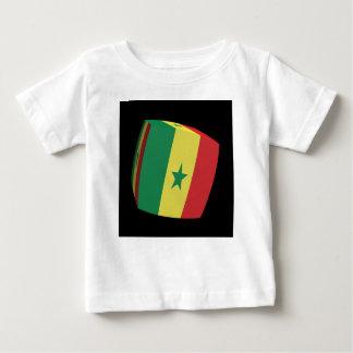 Senegalese gekubeerde vlag baby t shirts