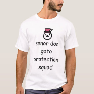 Senor trekt de Ploeg van de Bescherming aan Gato T Shirt