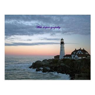 Sentinal bij Zonsondergang, met diepste sympathie Briefkaart