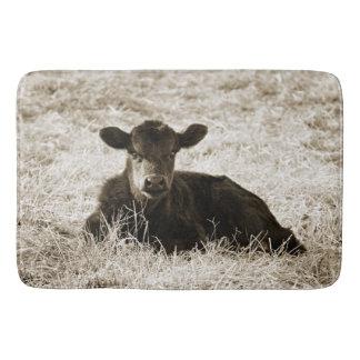 Sepia de Schattige Badmat van de Koe van het Baby