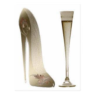 Sepia de Schoen en Viering Champagne van de Briefkaart