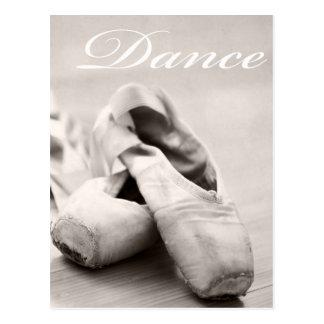 Sepia de Sjabloon van de Dans van de Schoenen van Briefkaart