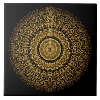 Sepia de Tegel van Mandala Keramisch Tegeltje