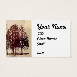 Sepia de Visitekaartjes van Bomen