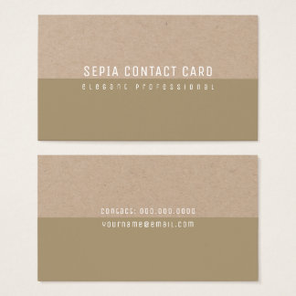 sepia minimalistische elegant en modern visitekaartjes