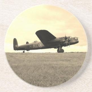 Sepia van de Bommenwerper van Lancaster Toon Zandsteen Onderzetter