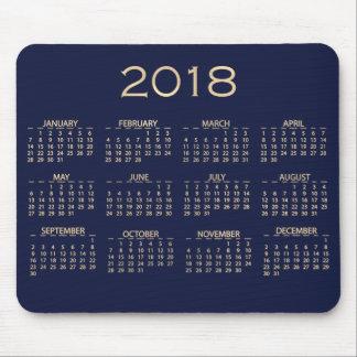 Sepia van de Marine van de kalender 2018 Metaal Muismat