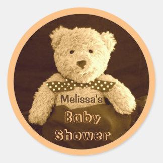 Sepia van de teddybeer de Stickers van het Baby
