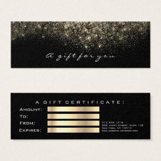 Sepia van het Certificaat van de gift de Gouden Mini Visitekaartjes