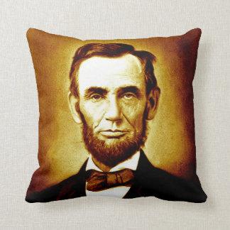 Sepia van het Portret van Abraham Lincoln van het Sierkussen