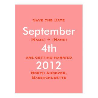 September, 2011, vierde, sparen de Datum, Katie   Briefkaart