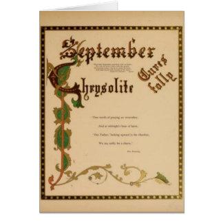 September Chrysolite Briefkaarten 0