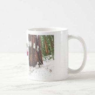 Sequoia in de sneeuwmok koffiemok