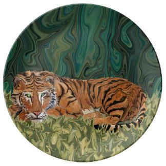 Serendipity van de Zondag van de tijger Borden Van Porselein