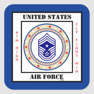 Sergeant van het Bevel van de Luchtmacht Vierkante Sticker