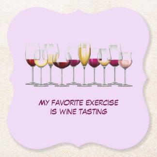 Serie van de Glazen van de Wijn Viltjes